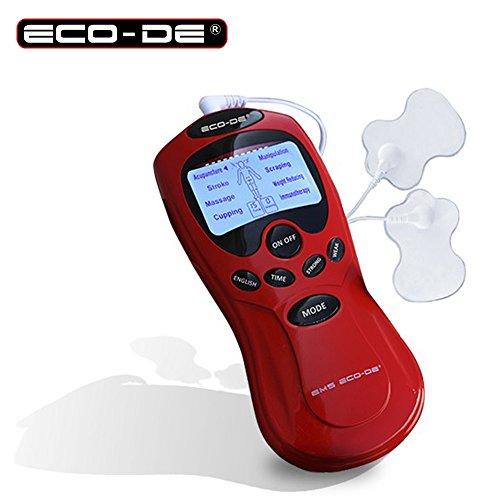 Elettrostimolatore muscolare digitale con 8 programmi e 15 livelli di intensità - multifunzione bruciagrassi con 2 elettrodi compatto e portatile tipologia ems per tutto il corpo con timer - 306