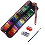 Niutop 48 colours Artist Grade High Quality Watercolour Pencils Set with Pencil Holder Sharpener Eraser and Blending Brush