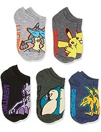 Pokemon Named Assorted 5-pack No Show Socks