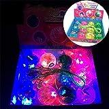 Leuchtende Blinkende für Pulling Line Bouncy Ball Spaß Spielzeug/Leuchtende Ball Band Ball Bunte Flash Nacht Spiel Party Requisiten
