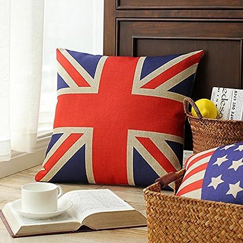 SKL London Olympic Decorative Rectangular UK Flag Union Jack Sherlock Holmes Movie Props Pillow Cases Sofa Chair Cushion Cover (45CM*45CM)