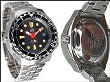 Taucher Uhr m. Automatik Werk Saphir Glas Edelstahl Band Helium Ventil T0079M - 3