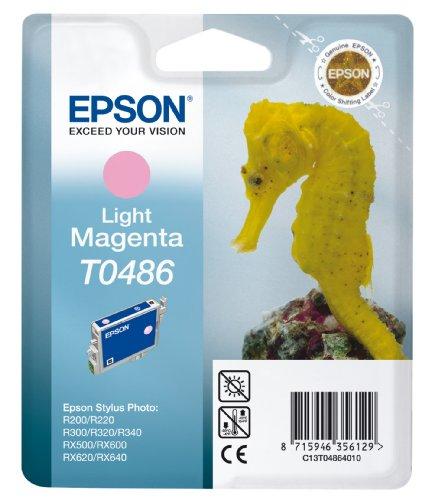 Epson T0486 Tintenpatrone Seepferd, Singlepack hell magenta -
