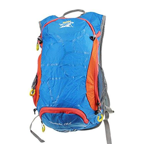 FakeFace Unisex Rucksack Sporttasche Reisetasche Wanderrucksack Picknickrucksack Wasserdicht Tasche Daypack Tragetasche Multifunktionsrucksack Blau