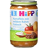 Hipp Kartoffeln mit mildem Rahm-Gulasch, 6er Pack (6 x 220 g) - Bio