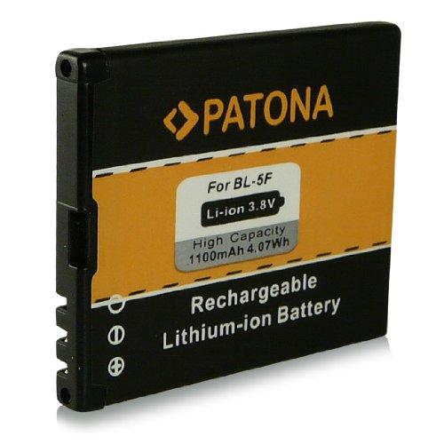 Batteria BL-5F   BL5F per Nokia 6210 Navigator   6210 slide   6290   6710 Navigator   E65   N93i   N95   N96   X5-00 e più… [ Li-ion, 1100mAh, 3.7V ]
