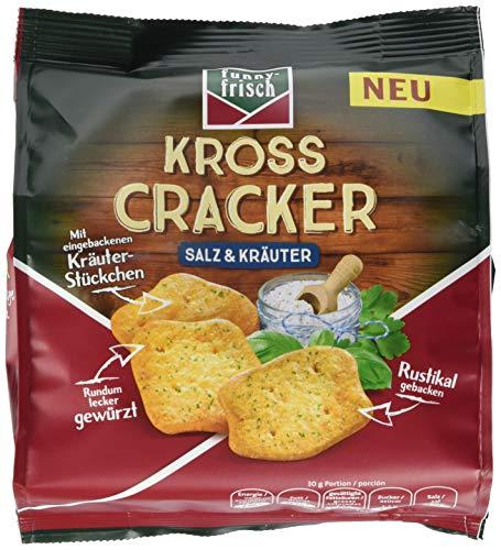 funny-frisch Kross Cracker Salz & Kräuter, 12er Pack (12 x 100 g) - Kräuter-salz