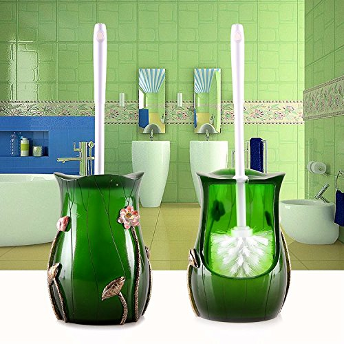 haojiagongsi Toilettenbürste Mit Klobürste Silikonharz Kreativer Heimat Weiche Bürste Lotus Pond -