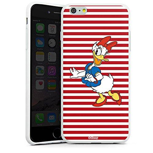 Apple iPhone X Silikon Hülle Case Schutzhülle Disney Daisy Duck Fanartikel Merchandise Silikon Case weiß