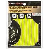 Ultrasport 330900000107, Adesivi Catarifrangenti per Cerchioni Unisex-Adulto, Neon Giallo/Bianco/Arancio, OS