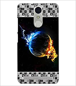 PrintDhaba Earth on Fire D-4133 Back Case Cover for LENOVO K5 NOTE (Multi-Coloured)
