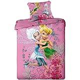 Fairies Purple Disney - Juego de cama, funda de edredón reversible para cama individual, diseño del hada Campanilla