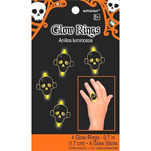 394476–551,7cm Glow in The Dark Skull Ringe ()