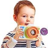 A-PIE Wooden Camera Kaleidoscope Camera Wooden Toy (Orange)