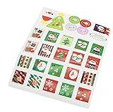 Hosaire 280x Etiquetas de papel etiqueta de Navidad nuevo paquete de regalo pegatinas de sellado para cookie Candy nueces paquete de Navidad muñeco de nieve árbol