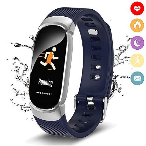 Fitness Trackers WISHDOIT Smart Armband Aktivitäts Tracker Pulsmesser Touchscreen Schrittzähler Fitness Uhr Sportuhr mit Kalorien Zähle Entfernung Tracker Schlafmonitor Call Nachricht Erinnerung für