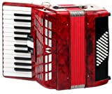 Classic Cantabile 00031495 Accordéon 48 basses Secondo III Rouge