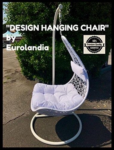 Eurolandia 91922 - ' Design Hanging Chair ' Sedia Ovetto a Dondolo Sospesa BIANCA