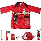 Feuerwehr Einsatzjacke Ausrüstung 8-teilig Kleinkind Kostüm Fasching Accessories für Feuerwehr Einsatzjacke Ausrüstung 8-teilig Kleinkind Kostüm Fasching Accessories