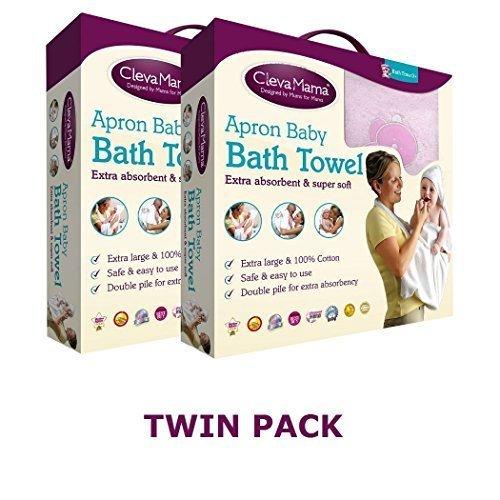 Imagen 4 de Clevamama Splash & Wrap - Toalla para bebés (2 unidades), color rosa