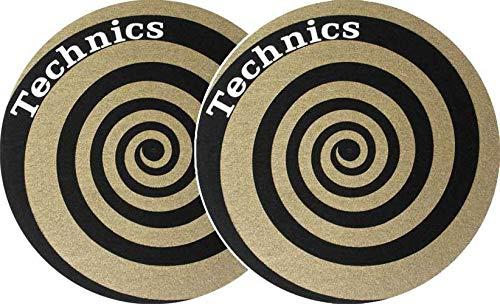 Slipmat Technics Spirale gold (Doppelpack)