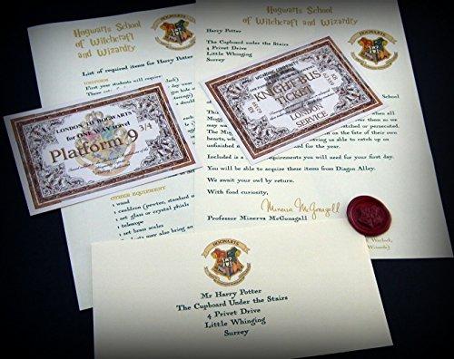 Harry Potter Hogwarts Geschenk im Hogwarts-Stil - Angepasste Aufnahmemitteilung für jedes Alter - Schneller Versand - Ein toller Spaß für die Hexe oder den Zauberer in Ihrem Leben! Planeten Karte