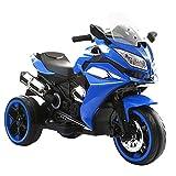 kidfun Moto Motocicletta Elettrica per Bambini 12V Blu