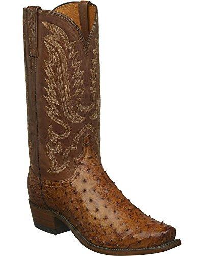4226966f12 Hechos a Mano Lucas Completo Pluma Avestruz Occidental Arranque Estrecho  Cuadrado del Dedo del pie Lucchese