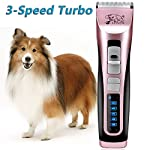 Rision 3 Speed Professional Pet Grooming Clipper Kit Low Noise Rechargeable Cordless Dog Hair Trimming Clippers Set for Dogs Cats and Other Animals Rision 3 Speed Professional Pet Grooming Clipper Kit Low Noise Rechargeable Cordless Dog Hair Trimming Clippers Set for Dogs Cats and Other Animals 51q1w7tHwGL