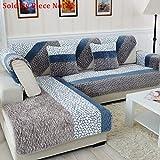 Anti-rutsch Gesteppte möbel protektoren Für haustier hund Verdicken sie Schnittsofa werfen abdeckung pad Plüsch Schutzhüllen u-form L-form Couch abdeckung-1 stück-A 35x28inch(90x70cm)