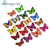 WEIWEITOE-DE 3D Innovative LED Lighting Colorful Butterfly Wall Stickers Cute Butterfly LED Night Light Home Room Desk Wall Decor