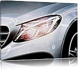 Mercedes E-Klasse Format: 120x80 auf Leinwand, XXL riesige Bilder fertig gerahmt mit Keilrahmen, Kunstdruck auf Wandbild mit Rahmen, günstiger als Gemälde oder Ölbild, kein Poster oder Plakat