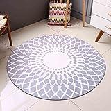 GZP Innenteppich Runde Teppich, Wohnzimmer Schlafzimmer Nachttisch Teppich Computer Stuhl Kissen moderne Geometrie England Bereich Teppich Decke (Farbe : Round80cm)
