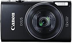 Canon IXUS 275 HS 20.2 MP Point and Shoot Camera (Black) with 12x Optical Zoom, Memory Card and Camera Case