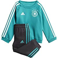 adidas DFB 3Stripes Niños Baby Jogger–Chándal, todo el año, infantil, color eqt green s16/Black/White, tamaño 92
