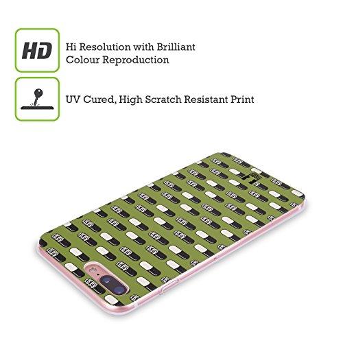 Head Case Designs Pop Pattern Pillole Cover Morbida In Gel Per Apple iPhone 7 Plus / 8 Plus Zebra
