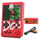 MERIT OCEAN Console de Jeu Portable, Console de Jeu 3 Pouces 360 Jeux Console de Jeux vidéo rétro avec Un Lecteur USB pour Enfants Parents Amis (Rouge)