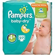 Pampers Baby-Dry Gr. 4+, 9-18kg, 27Windeln, 1 Packung = 1 Impfdosis