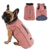 Cold Winter Dog Pet Coat Jacket Vest Warm Outfit Clothes for Small Medium Large Dogs Pink S