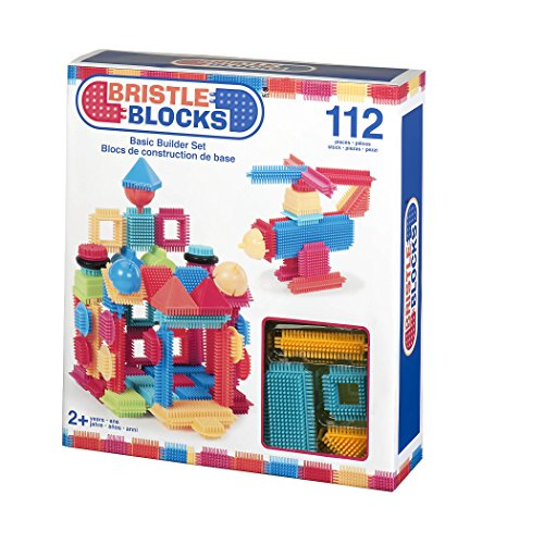 Battat 3091Z- Costruzioni a Pettine Bristle Blocks, Confezione da 112 pezzi