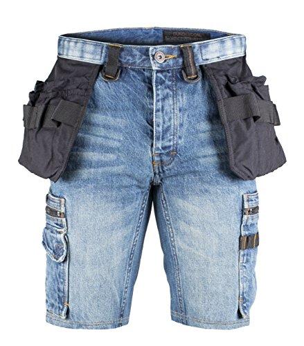 Stonewashed Denim Shorts (Dunderdon Workwear P55S Zimmermanns Denim Shorts, stonewashed, W33)