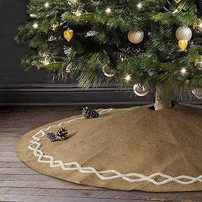 NIBESSER-Baumdecke-Weihnachtsbaum-Rock-Christbaumdecke-Rund-Weihnachtsbaumdecke-Christbaumstnder-Teppich-Decke-Weihnachtsbaum-Deko