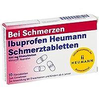 Preisvergleich für Ibuprofen Heumann Schmerztabletten 400 mg, 10 St. Filmtabletten