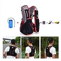 AONIJIE 5L Waterproof Nylon Running Backpack Marathon Cycling Bags Running Vest Kettle Sport Bag + 1.5L Hydration Water Bag , S/M