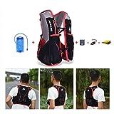 AONIJIE 5L bolsas de mochila de nailon impermeable, para maratón, ciclismo, running chaleco, bolsa de deporte + bolsa de agua de hidratación de 1,5 L, L/XL