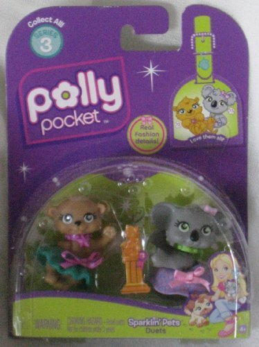 Polly Pocket Pet Duets Sparklin Pets Koala Bear and Kitten by Mattel (Pocket Koala)