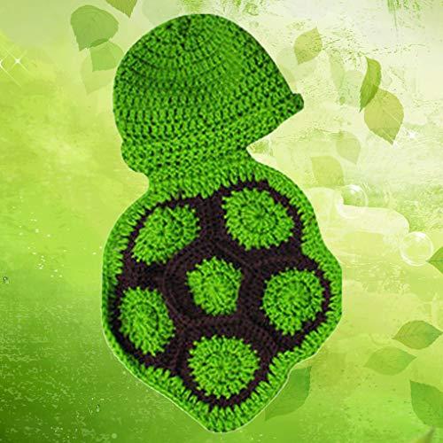 Ben-gi Lovely Baby Crochet Tier-Hut-Baby-Schildkröte Fotografie Props Kleinkind-Kostüm-Set Handmade Newborn (Baby Schildkröte Kostüm Crochet)