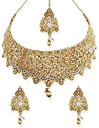Zaveri Pearls Precisely Designed Antique Traditional Choker Necklace Set -ZPFK6638