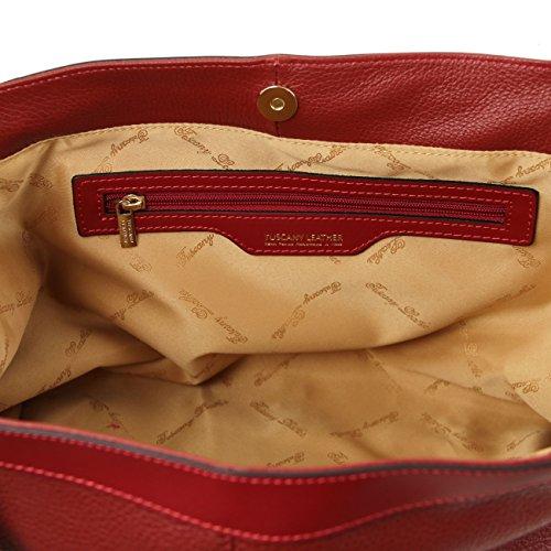 Tuscany Leather Ambrosia - Borsa in pelle morbida con tracolla Rosso Borse donna a mano in pelle Rosa Antico
