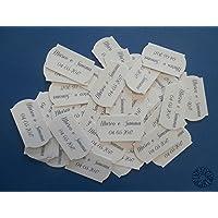 Kit 10 bigliettini sagomati per bomboniere nascita, Battesimo, Prima Comunione, Cresima, laurea, matrimonio, anniversario, compleanno